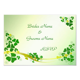Stylish Shamrock RSVP cards Announcement