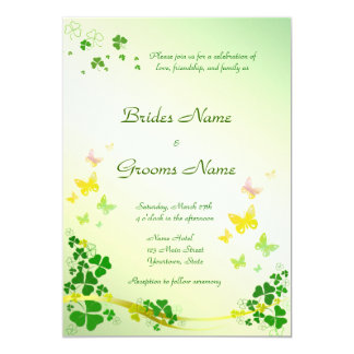 Stylish Shamrock Wedding Invitation