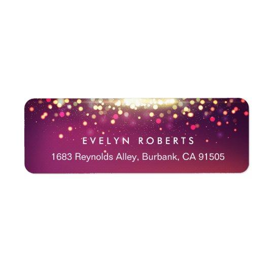 Stylish Shimmer Gold Glitter Sparkle Lights Return Address Label