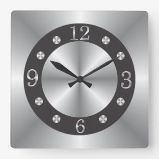 Stylish Silver And Black Wallclocks