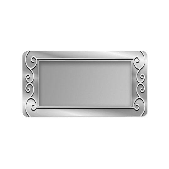 Stylish Silver Blank Return Address Address Label