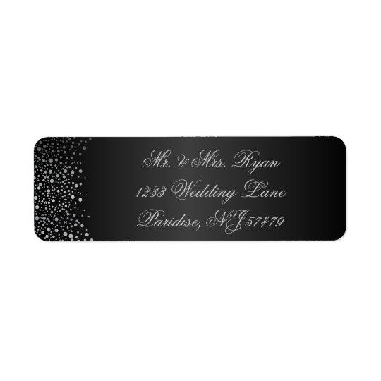 Stylish Silver Confetti Dots | Sheen Black