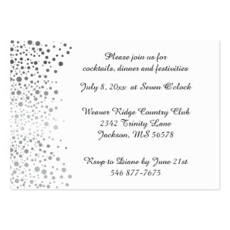Stylish Silver Dots | White Background Pack Of Chubby Business Cards