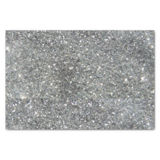 Stylish Silver Glitter Glitz Photo Tissue Paper