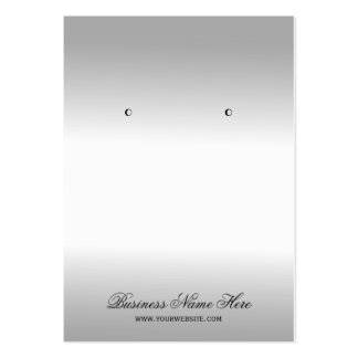 Stylish Silver Metallic Look Earring Display Cards Pack Of Chubby Business Cards