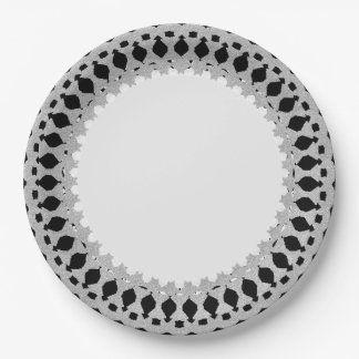 Stylish-Silver-Ornate_Everyday_Multi-Use 9 Inch Paper Plate