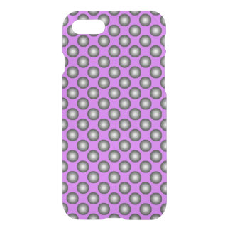 Stylish Silver Polka Dot on Pink Background iPhone 8/7 Case