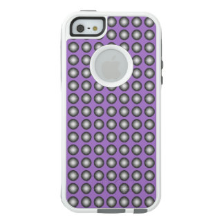 Stylish Silver Polka Dot w. Lavender Background OtterBox iPhone 5/5s/SE Case
