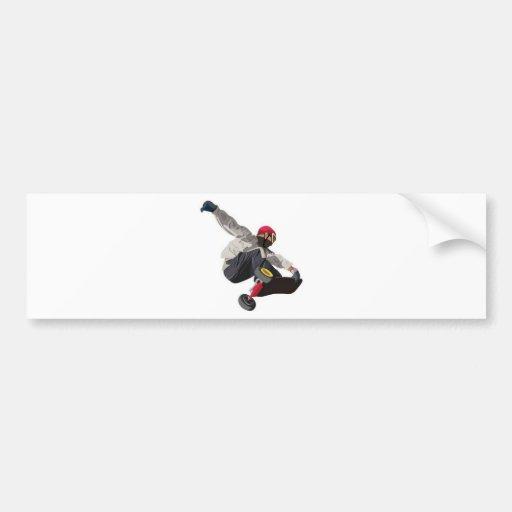 Stylish skater bumper sticker