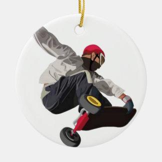 Stylish skater christmas ornament