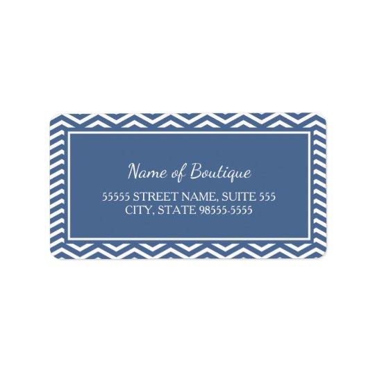 Stylish Slate Blue Chevrons Address Label