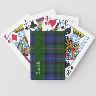 Stylish Smith Clan Tartan Plaid Playing Cards