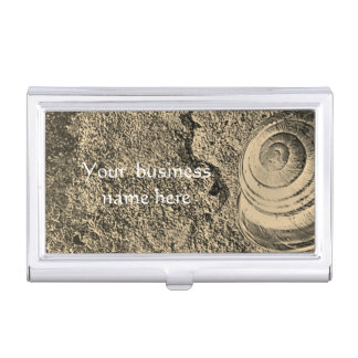 Stylish Snail Calligraphy Case For Business Cards