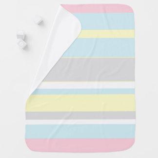 Stylish Soft Pastel Stripes Baby Blanket