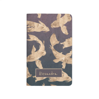 Stylish sophisticated dolphin patterned journal