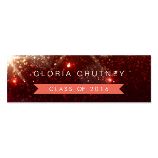 Stylish Sparkles Student Graduation Name Card Pack Of Skinny Business Cards