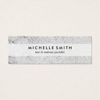 Stylish Speckled Grunge Mini Business Card