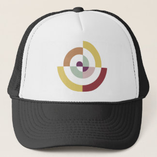 Stylish Spiral Design Trucker Hat