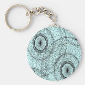 Stylish Spirograph Swirly Zen Doodle Pattern Keychains