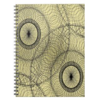 Stylish Spirograph Swirly Zen Doodle Pattern Notebooks