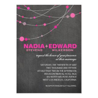 Stylish Strands | chalkboard fuschia 14 Cm X 19 Cm Invitation Card