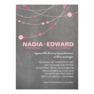 Stylish Strands | chalkboard pink 14 Cm X 19 Cm Invitation Card