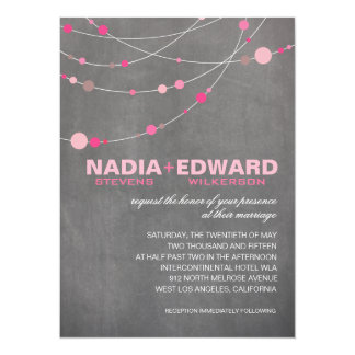 "Stylish Strands | chalkboard pink 5.5"" X 7.5"" Invitation Card"