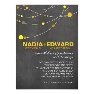 Stylish Strands | chalkboard yellow 14 Cm X 19 Cm Invitation Card