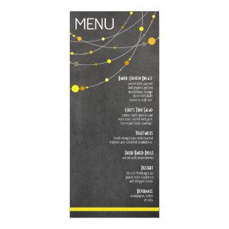 Stylish Strands Menu | chalkboard yellow Invitations