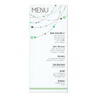 Stylish Strands Menu | white mint Custom Invitation