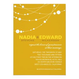 Stylish Strands | yellow white 14 Cm X 19 Cm Invitation Card