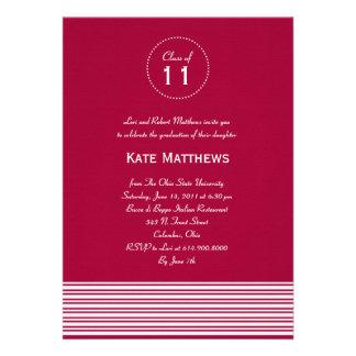 Stylish Stripes Graduation Party Invitation Custom Invite