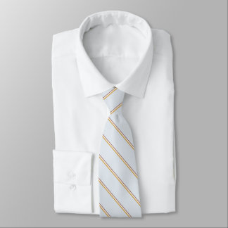 Stylish stripes in natural colors on pale green tie