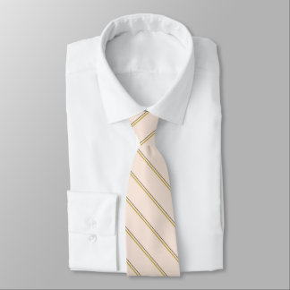 Stylish stripes in natural colors on pale pink tie