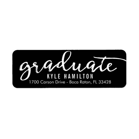 Stylish Strokes Editable Colour Graduation Label