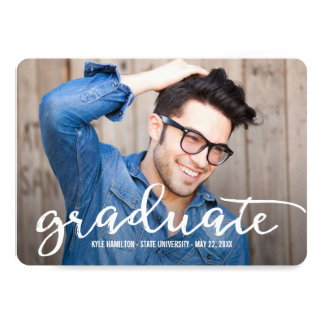 Stylish Strokes Graduation Announcement Invitation