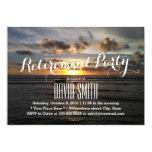 Stylish Sunset Beach Retirement Party Invitations
