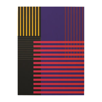 Stylish Suprematic pattern Wood Print