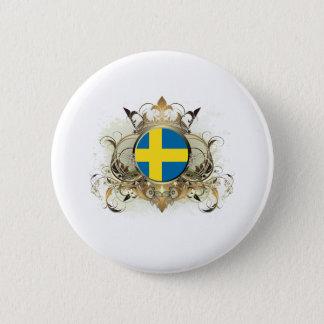 Stylish Sweden 6 Cm Round Badge
