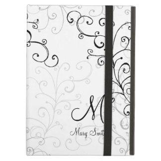 Stylish Swirl Custom Monogram iPad Air Case