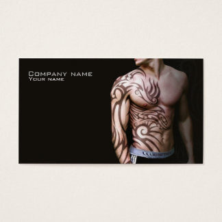 Stylish tattoo business card