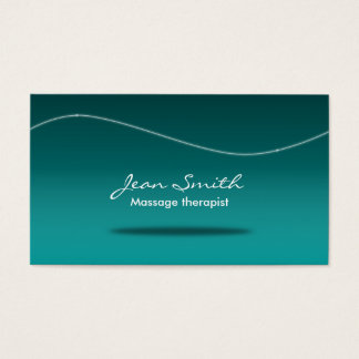 Stylish Teal Massage Therapy Business Card