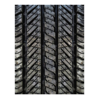 Stylish Tire Rubber Automotive Texture 21.5 Cm X 28 Cm Flyer