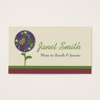 Stylish Topiary Flower Mommy Card