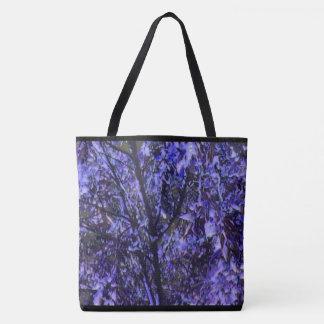 Stylish Tote Bag - Digital Art Image: Purple Trees