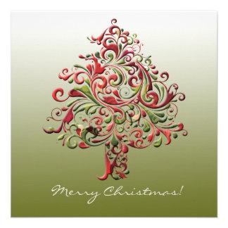 Stylish Tree - Photo Holiday Card Invite