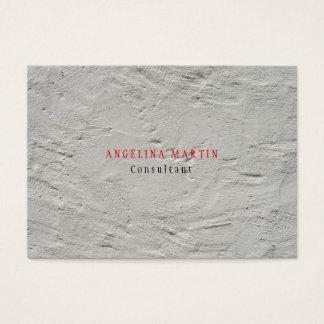 Stylish Trendy Grey Wall Texture Minimalist Modern Business Card