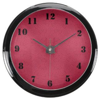 Stylish trendy pattern fish tank clocks