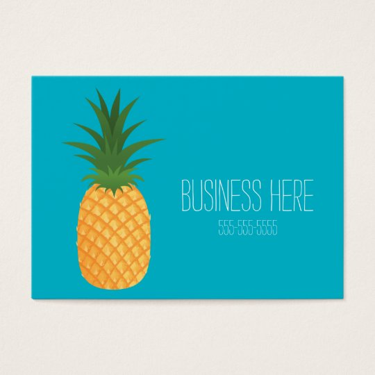 Stylish Trendy Tropical Pineapple Graphic Fruit Business Card
