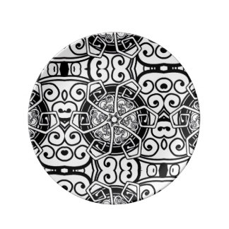Stylish tribal abstract designer plate